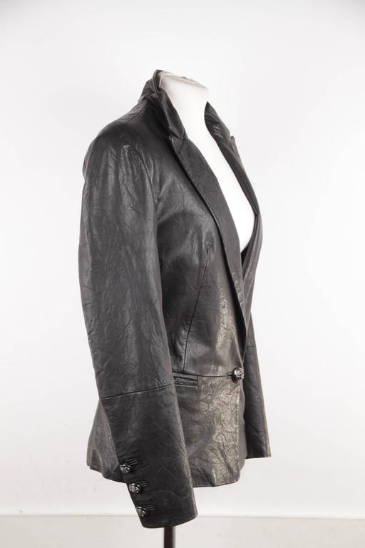 - Black crease-effect Lambskin leather