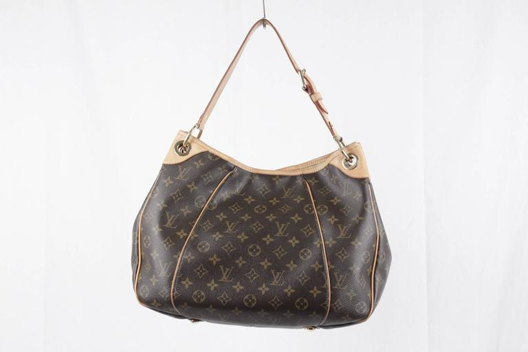 LOUIS VUITTON Brown Monogram Canvas GALLIERA PM HOBO Shoulder Bag TOTE 2