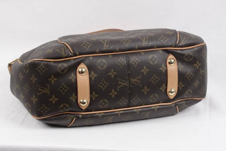 Women's LOUIS VUITTON Brown Monogram Canvas GALLIERA PM HOBO Shoulder Bag TOTE For Sale