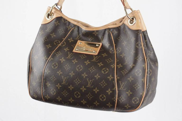 LOUIS VUITTON Brown Monogram Canvas GALLIERA PM HOBO Shoulder Bag TOTE For Sale 2