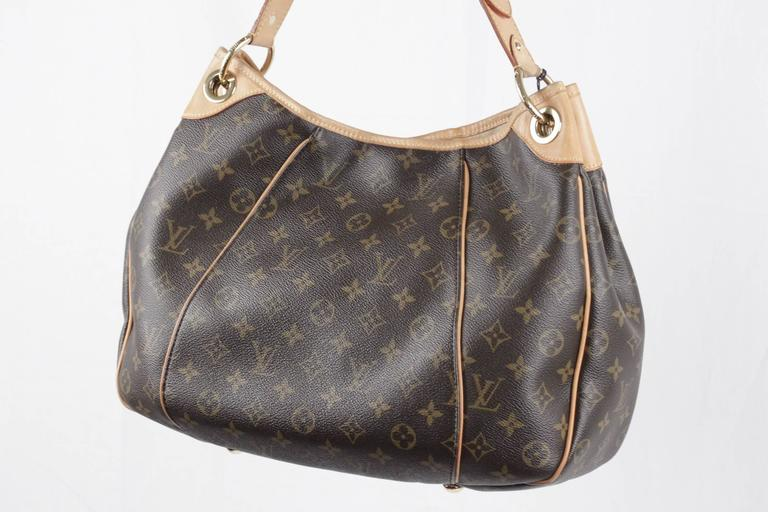 LOUIS VUITTON Brown Monogram Canvas GALLIERA PM HOBO Shoulder Bag TOTE For Sale 3