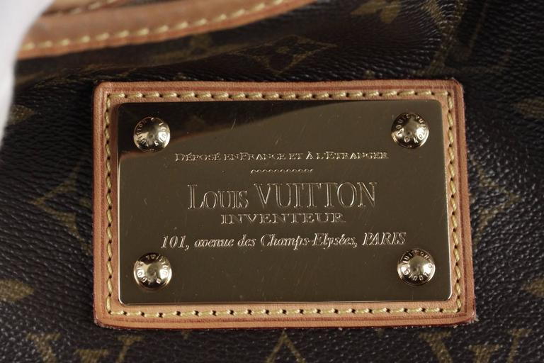 LOUIS VUITTON Brown Monogram Canvas GALLIERA PM HOBO Shoulder Bag TOTE For Sale 4