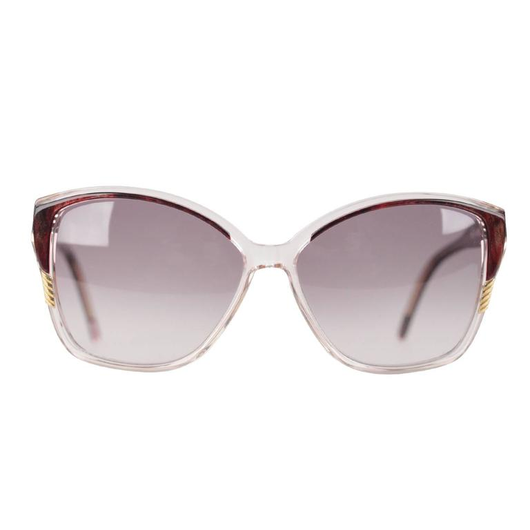 YVES SAINT LAURENT Vintage MINT Marbled Handmade Sunglasses 8728 P 124