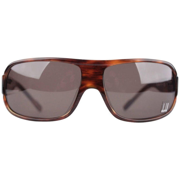 DUNHILL Brown Tortoise SUNGLASSES DU51503 67/16 120 Wrap Shades with CASE For Sale