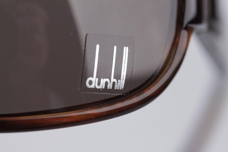 Men's DUNHILL Brown Tortoise SUNGLASSES DU51503 67/16 120 Wrap Shades with CASE For Sale