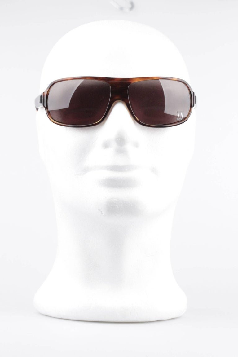 DUNHILL Brown Tortoise SUNGLASSES DU51503 67/16 120 Wrap Shades with CASE For Sale 4