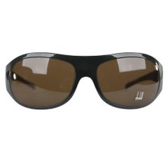 DUNHILL Green NEW & BOXED mens SUNGLASSES Wraps DU51204 65mm 120