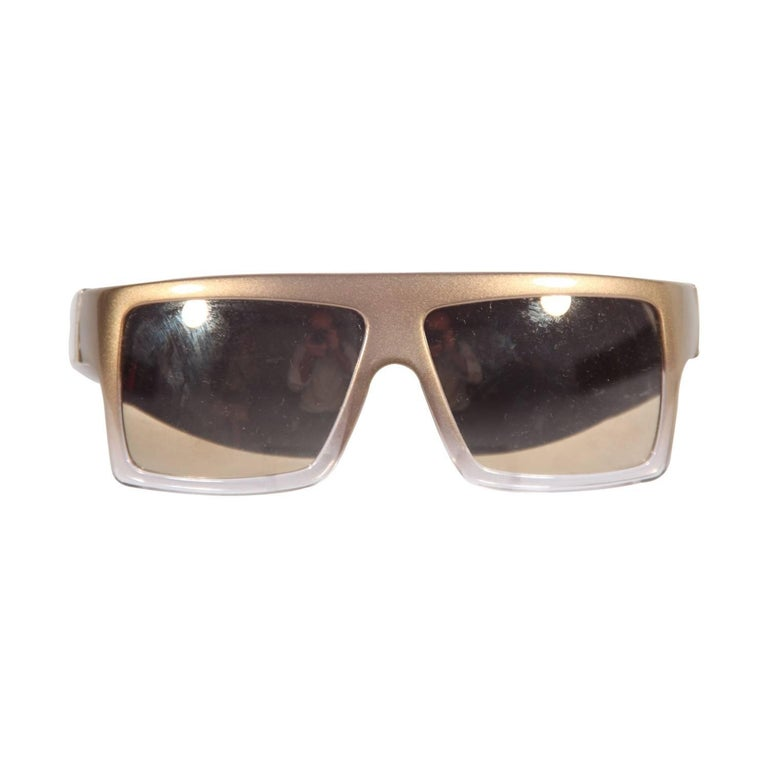 9177430c0c Gianfranco Ferre Mint Sunglasses GF52604 59mm Gold and Mirrored Lens For  Sale at 1stdibs