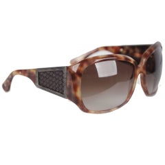 BOTTEGA VENETA Brown NEW SUNGLASSES WOVEN Leather BV 73S 60mm 115