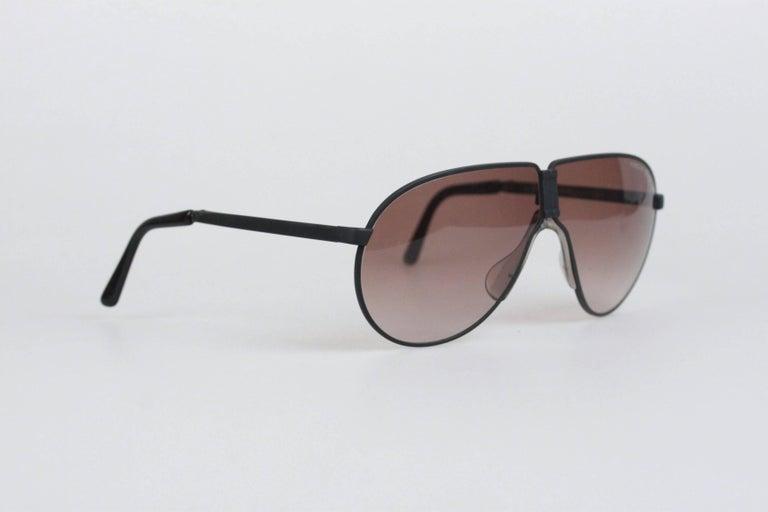 2072b63d3f4e6 PORSCHE DESIGN By CARRERA Aviator FOLDING Matt Black Sunglasses 5622 In New  Condition For Sale In