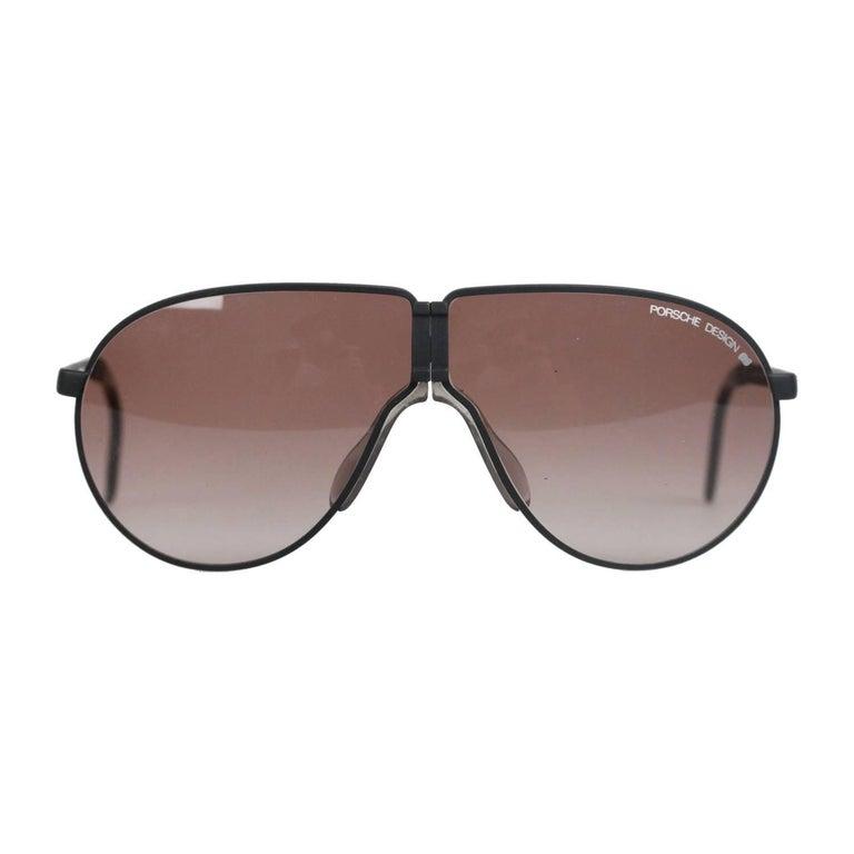 d46df2b64e0 PORSCHE DESIGN By CARRERA Aviator FOLDING Matt Black Sunglasses 5622 For  Sale at 1stdibs