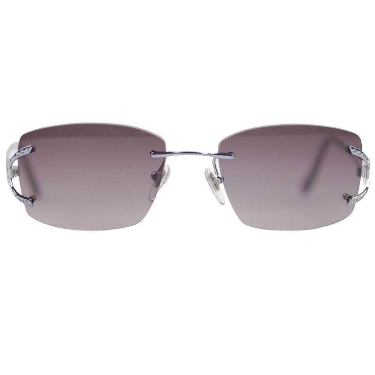 SALVATORE FERRAGAMO MINT Womens Sunglasses Silver 1648-B 545 53mm 135