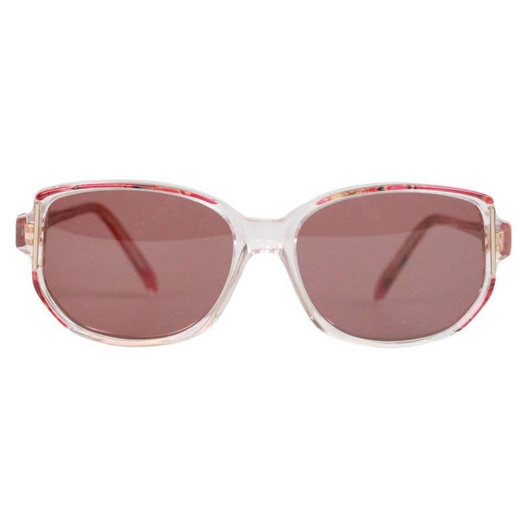 GIVENCHY Vintage MINT Womens SUNGLASSES G8913 950 Red marbled 54-16 mm