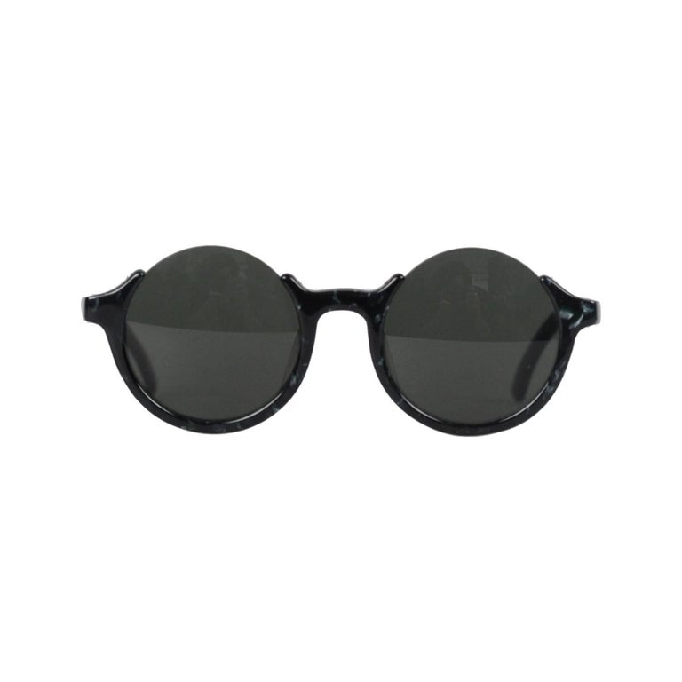 Jean Paul Gaultier Rare Vintage Half Rim Round Sunglasses Ref 56-7061