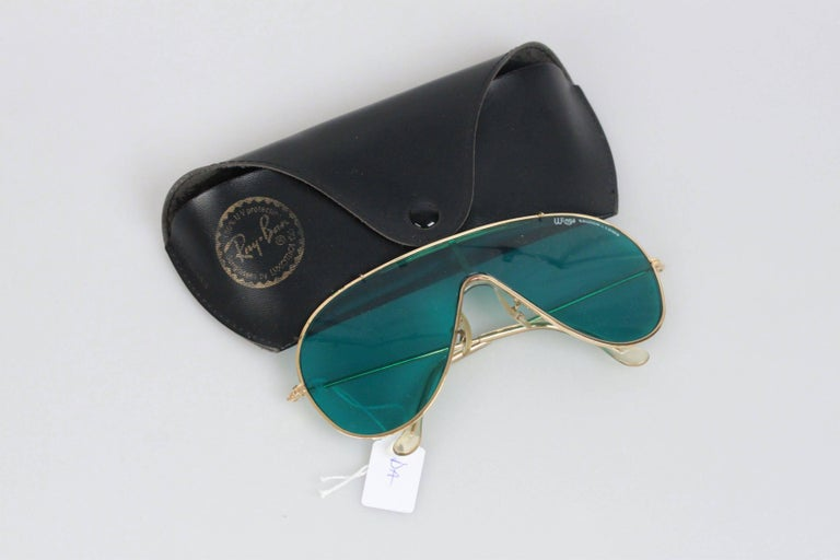60e68f082c RAY-BAN Bausch and Lomb Vintage Gold metal WINGS One Piece Shield ...