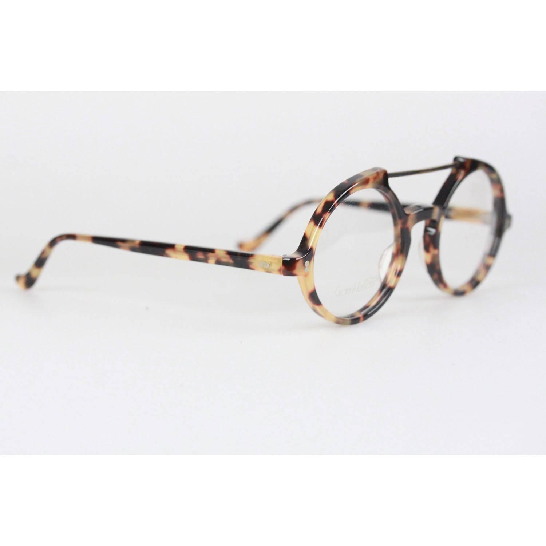 d77e6d2d721 GIANNI VERSACE Vintage Eyeglasses ROUND Frame MOD 530 COL 961 45mm at  1stdibs