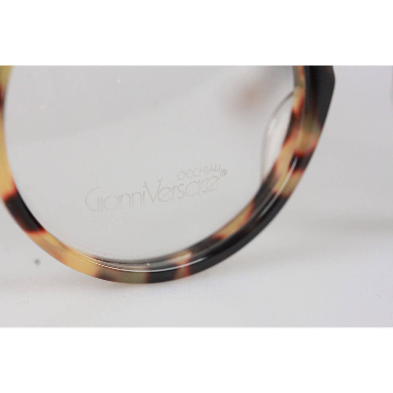 dfd94ec11a3b GIANNI VERSACE Vintage Eyeglasses ROUND Frame MOD 530 COL 961 45mm at  1stdibs