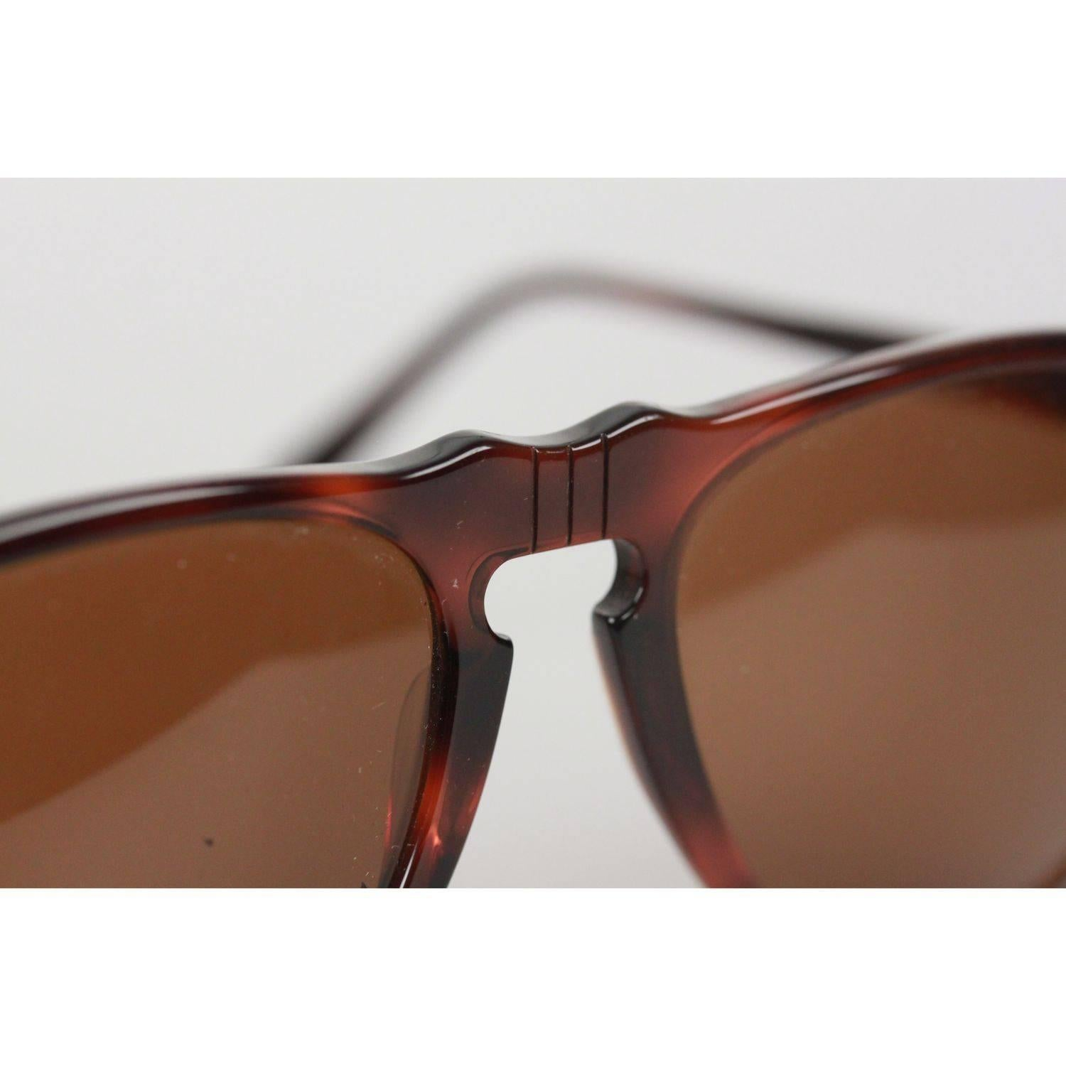 5035bc3838c PERSOL RATTI Vintage Brown Legendary SUNGLASSES 049 4 94 56mm NOS For Sale  at 1stdibs