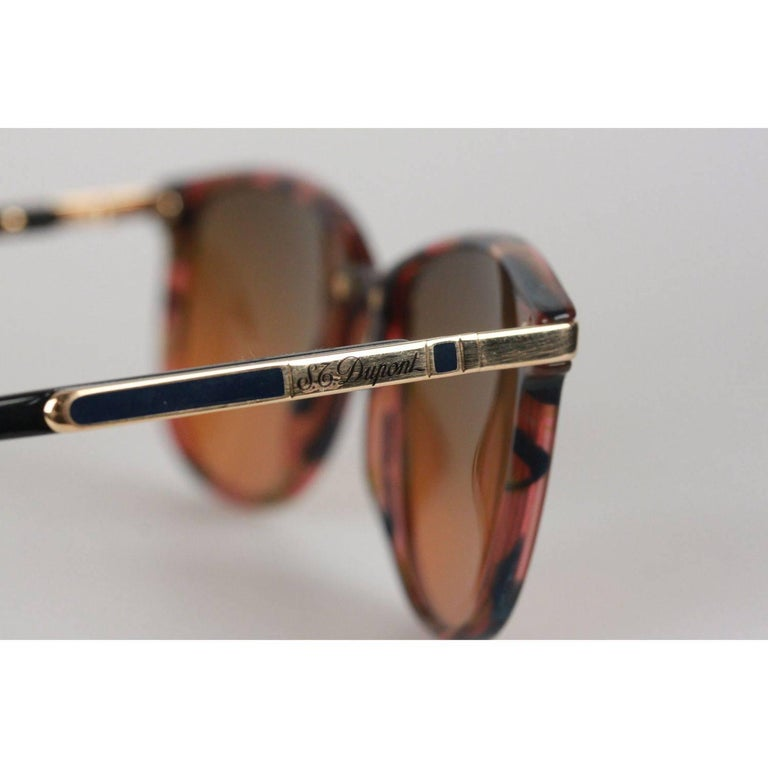 S.T DUPONT Brown Sunglasses M D1010 /20 C 3270 53/17 145 In Excellent Condition For Sale In Rome, Rome
