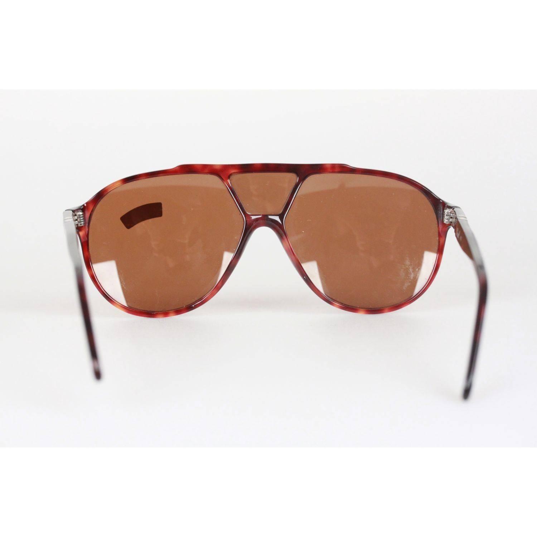 8edb582922927 PERSOL RATTI Vintage Brown MINT RARE Sunglasses 802 137 24 MEFLECTO For  Sale at 1stdibs