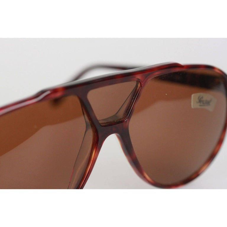 2bee3b0670148 PERSOL RATTI Vintage Brown MINT RARE Sunglasses 802 137 24 MEFLECTO For Sale  4