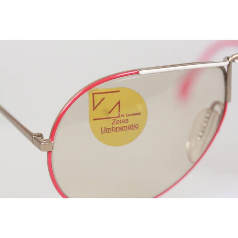 Women's or Men's ZEISS Vintage Sunglasses MOD. 9357 2003 60/14 135 UMBRAMATIC Lenses RARE For Sale
