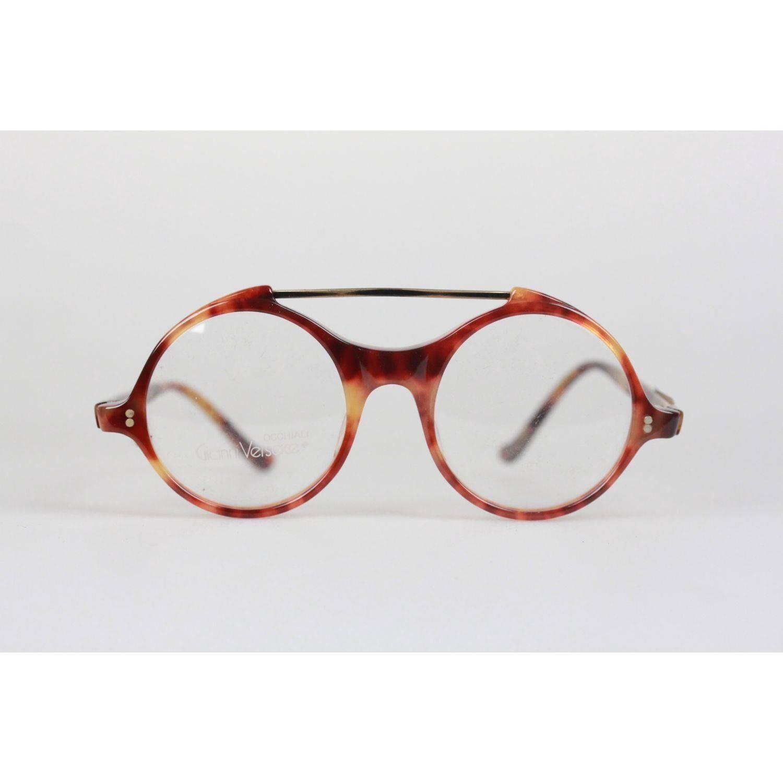 Gianni Versace Vintage Eyeglasses Round Frame MOD 531 COL 960 45mm ...