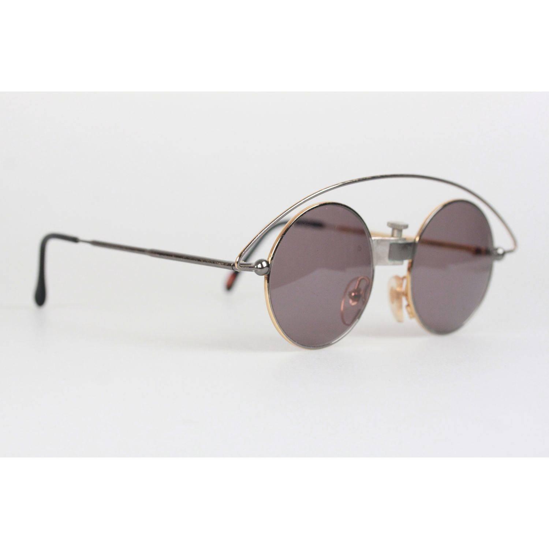 bf6feb8932ddb Casanova Vintage Rare Round Sunglasses Mod MTC 3 Gold Plated 24K 48-20 For  Sale at 1stdibs
