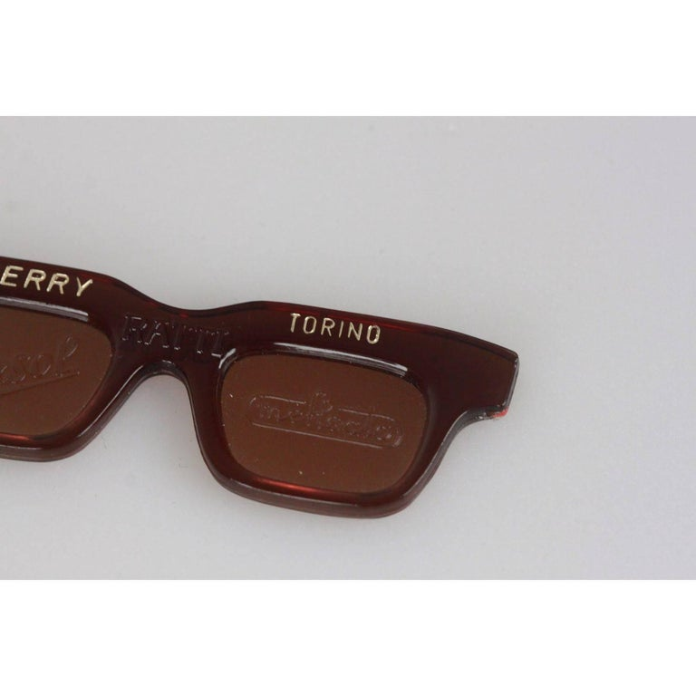 Brown Persol Ratti Berry Torino Vintage Sunglasses Keyring Charm For Sale