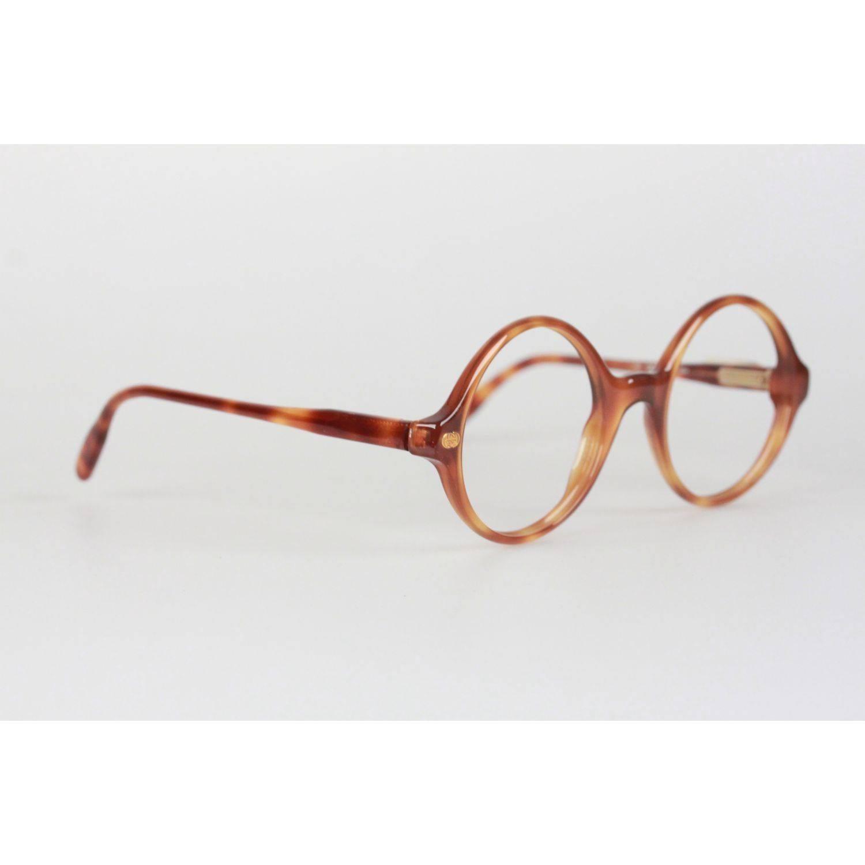 73c9cf137276 Gucci Vintage Brown Mint Round Frame GG Eyeglasses For Sale at 1stdibs