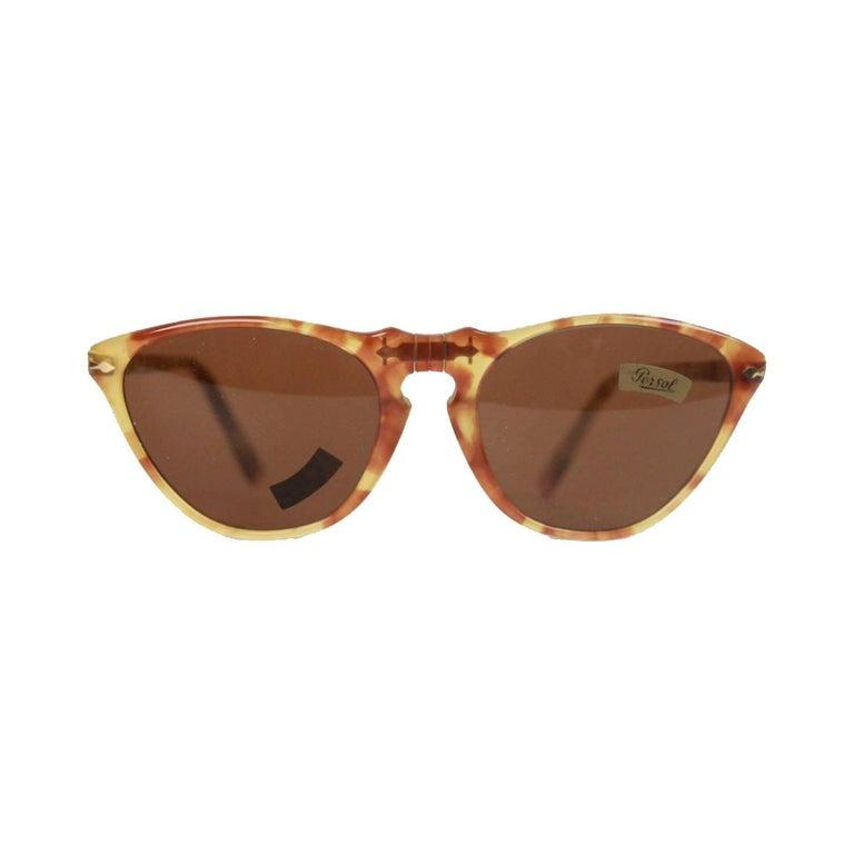 Persol Ratti Vintage Tan 48mm Sunglasses 201 Cat Eye Eyeglasses