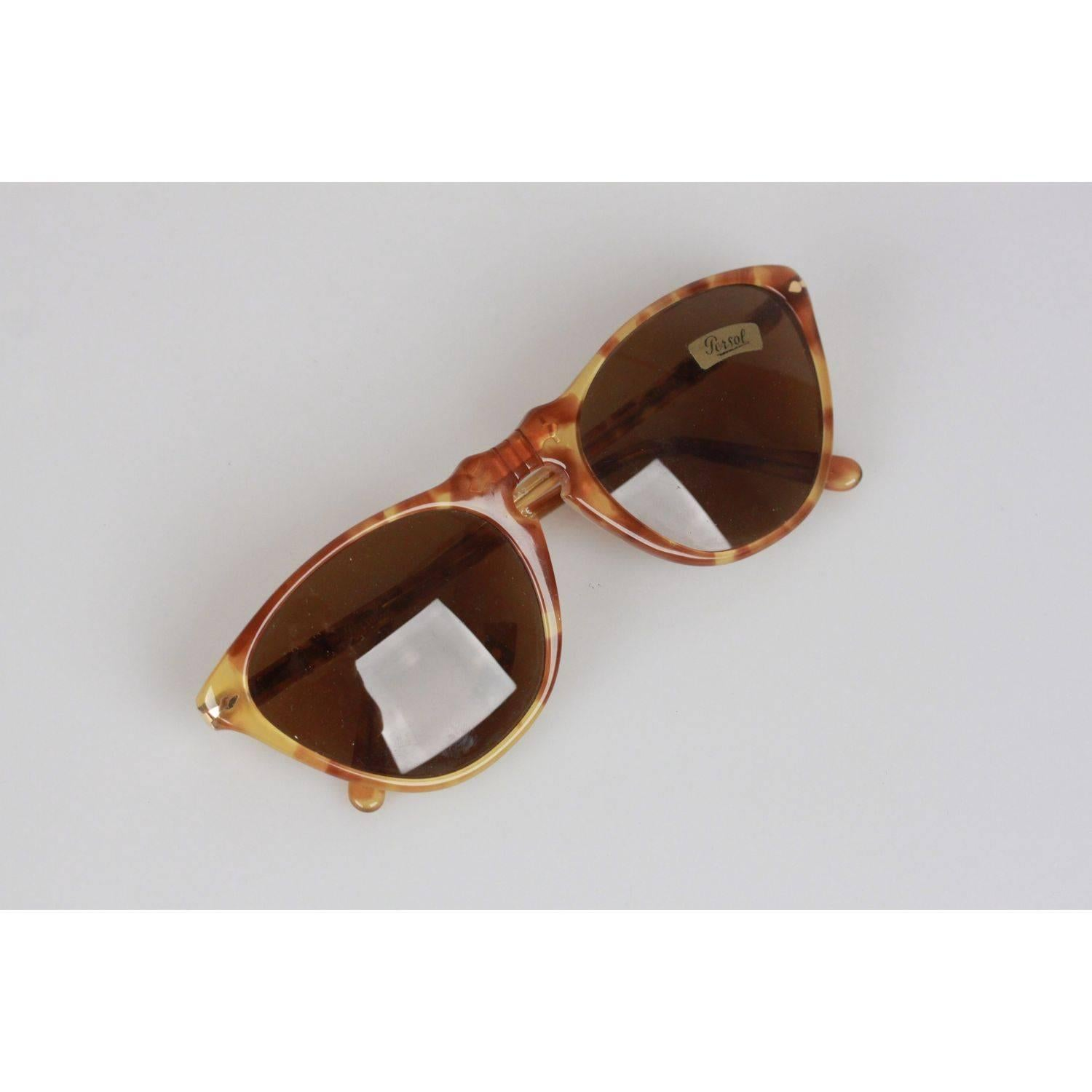 73e1f458ca4e9 Persol Ratti Vintage Tan 48mm Sunglasses 201 Cat Eye Eyeglasses For Sale at  1stdibs