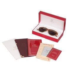 Cartier Paris Vintage Mint Sunglasses Eclat Jaspe Miel Dore 51mm