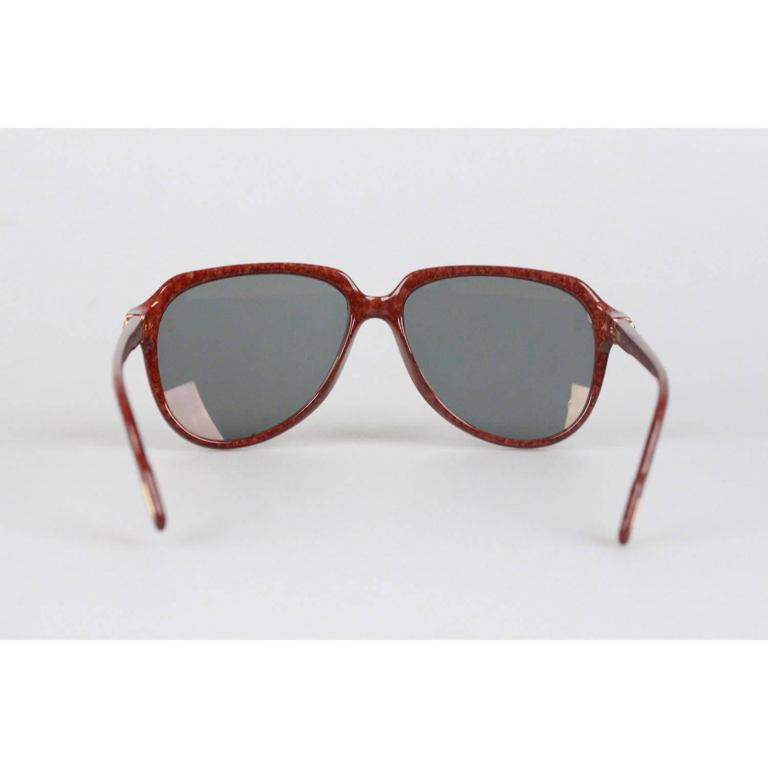 3ad2900fc5 CARTIER Paris VITESSE 1991 Rare Gold Brown Sunglasses 60-15 140 NOS For  Sale at 1stdibs