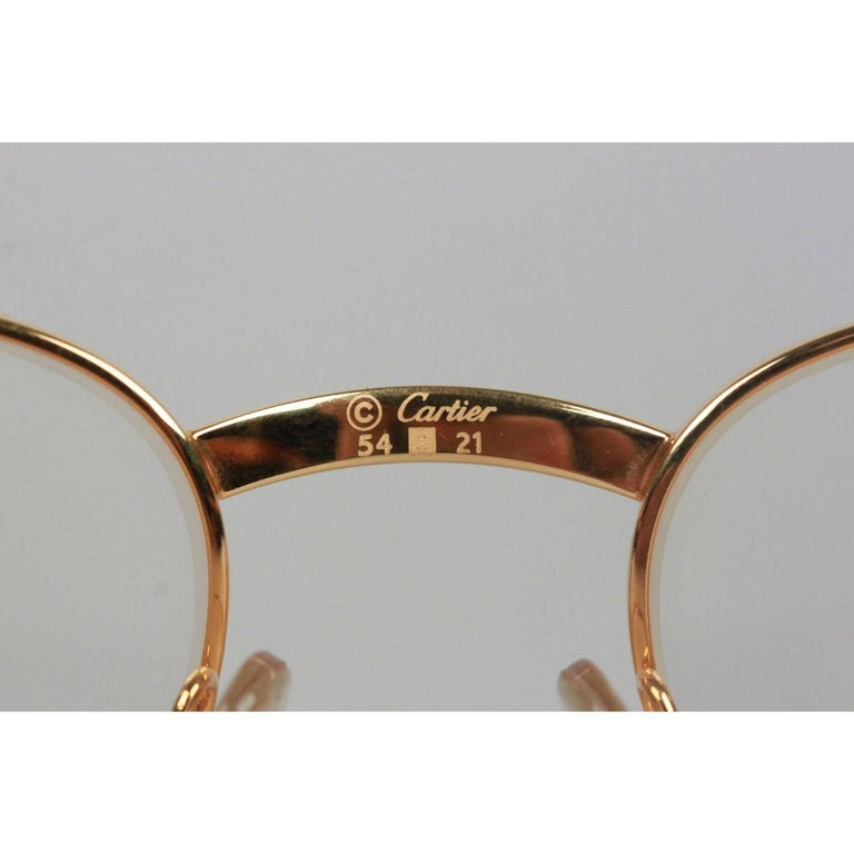 Cartier Paris Aube Tortoise Gold Frame Clear Lens Eyeglasses 54-21 ...