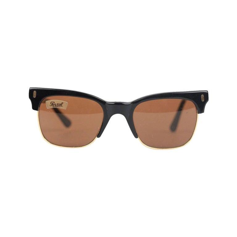 Persol Ratti Vintage Black Unisex Cellor Sunglasses 50mm ...