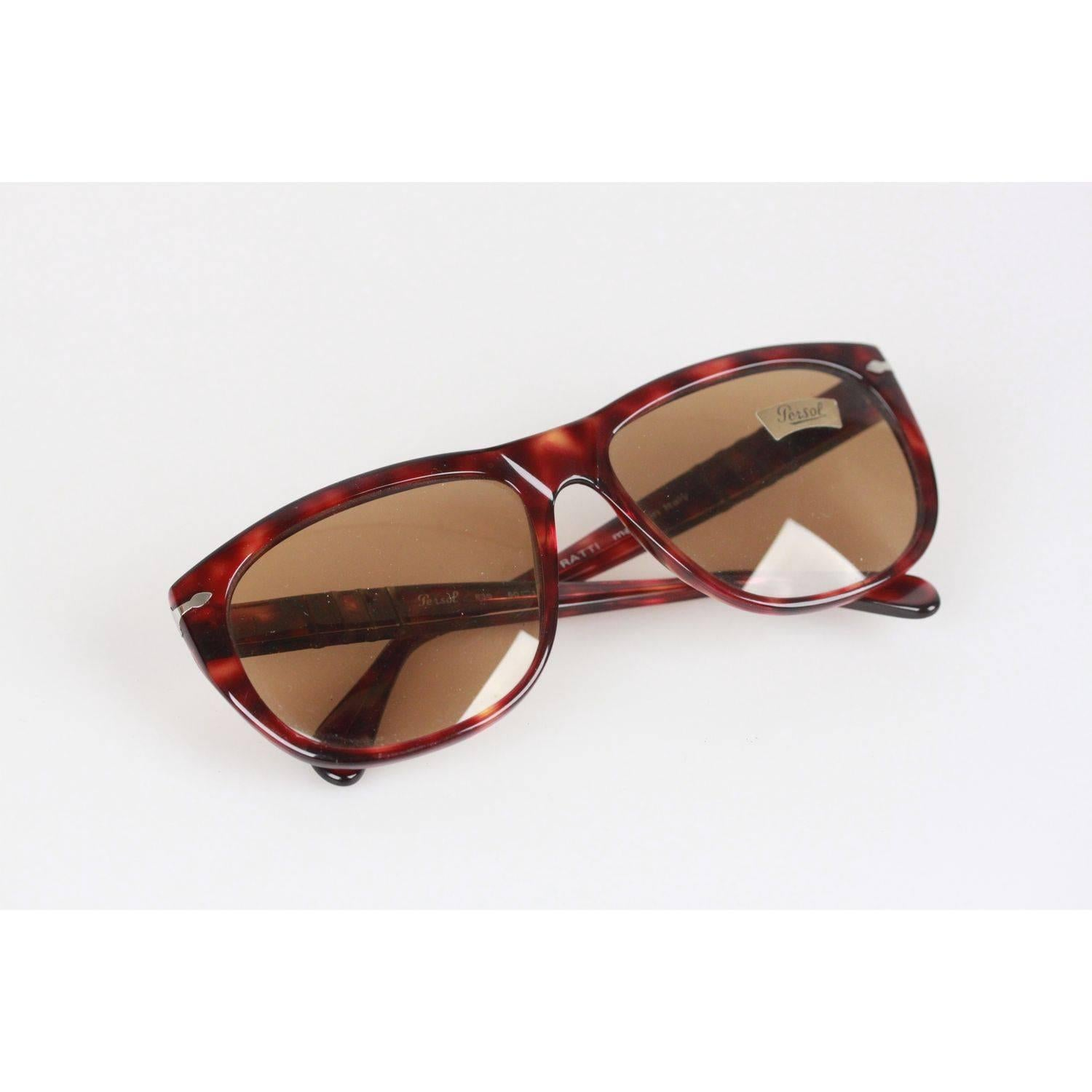 801bab593f222 PERSOL RATTI Vintage Brown MEFLECTO 836 60mm unisex SUNGLASSES NOS For Sale  at 1stdibs