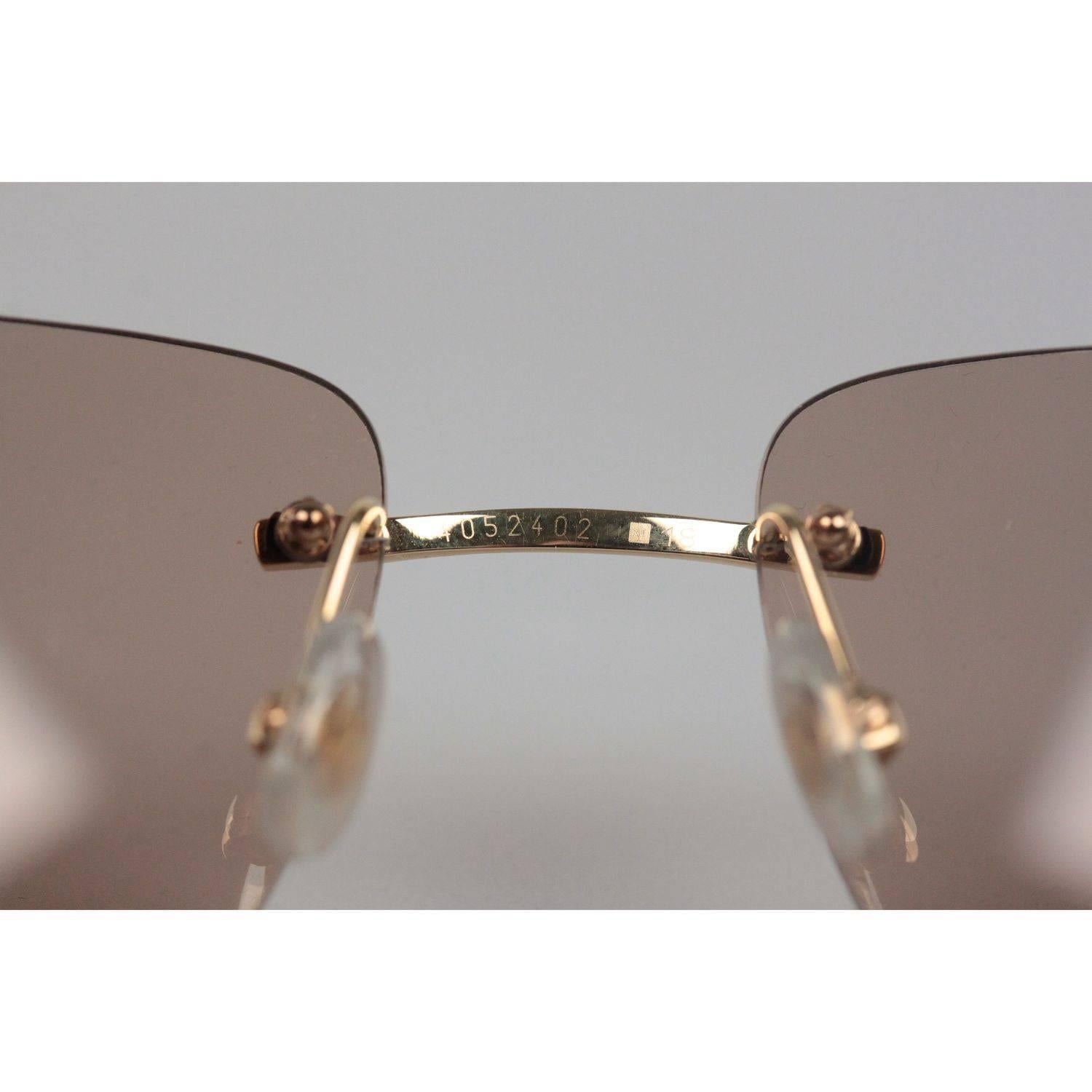 Cartier Paris Sunglasses Panthere T8200611 Gold Brown 110 at 1stdibs