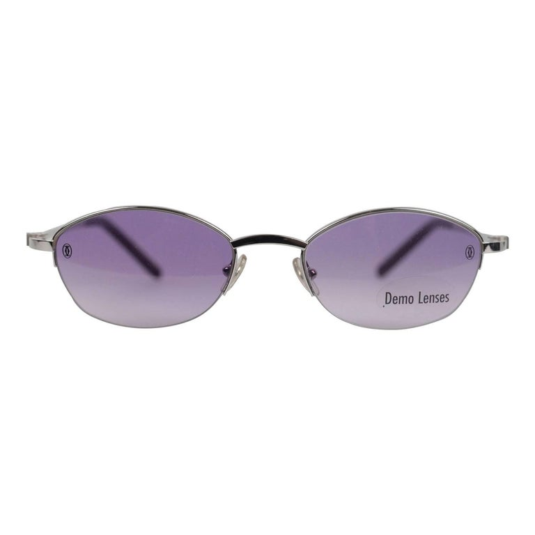 Cartier Paris Vintage Sunglasses Anakie T8100526 Amethyst 49-19 130