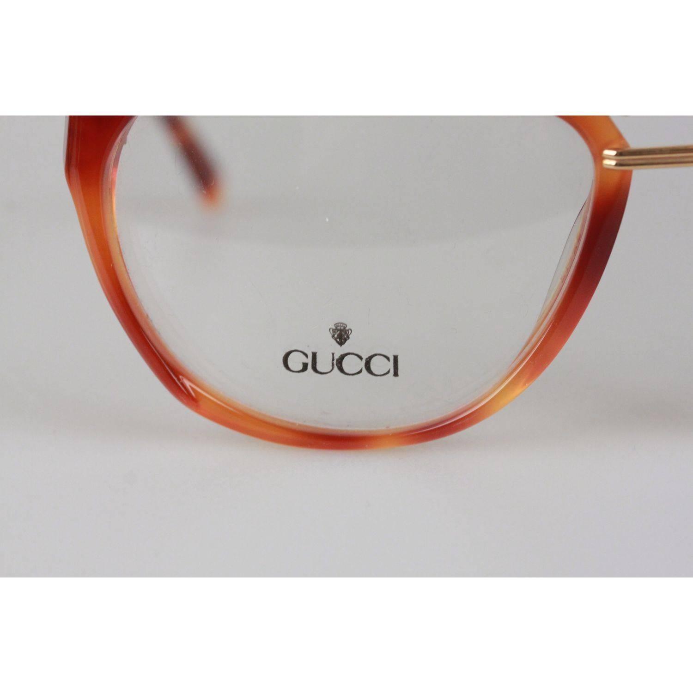 f67d295a3c Gucci Vintage Brown Gold Eyeglasses Unisex Frame GG 2321 57-15 13 OS For  Sale at 1stdibs