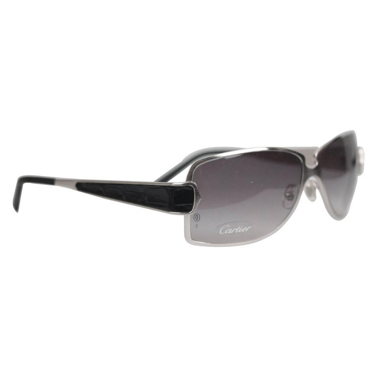 Cartier Paris Edition C de Cartier T8200722 Black Leather Sunglasses