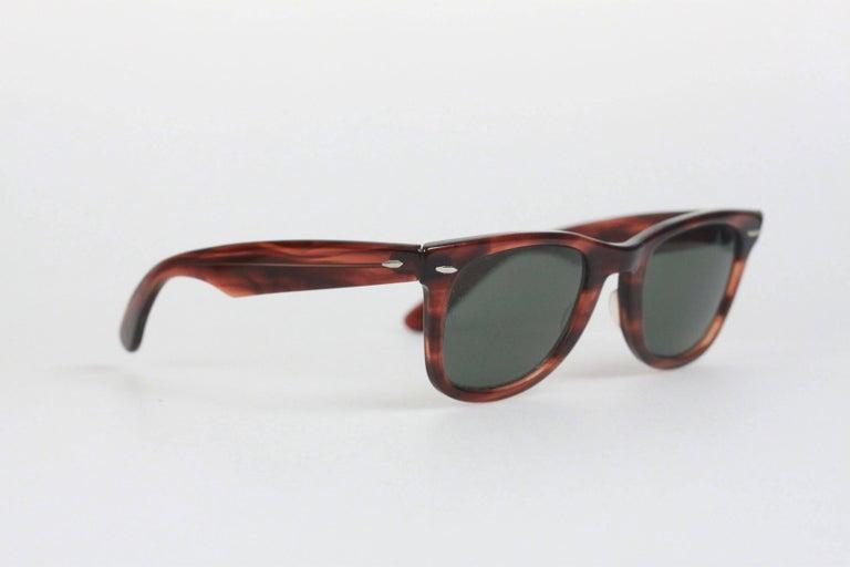 Ray Ban B Amp L 5024 Vintage Wayfarer Brown Sunglasses For