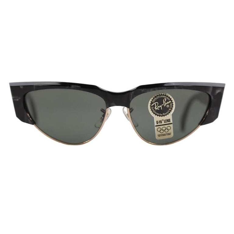 Ray-Ban B&L Vintage Black Onyx Olympic Games Sunglasses W1297 58mm