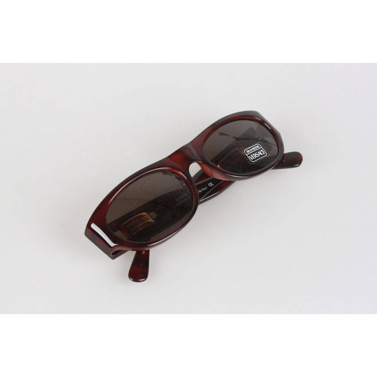 4094f9a0c4cb GIANNI VERSACE MEDUSA Brown Sunglasses 474 A Col 900 52mm NOS For Sale 4