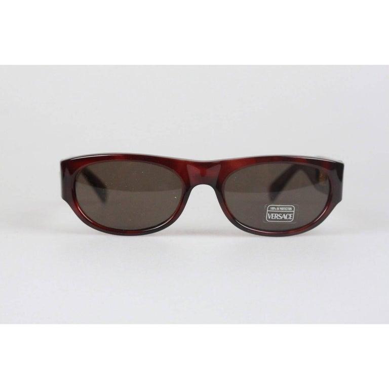 5e4a05228f9b GIANNI VERSACE MEDUSA Brown Sunglasses 474 A Col 900 52mm NOS For Sale 5