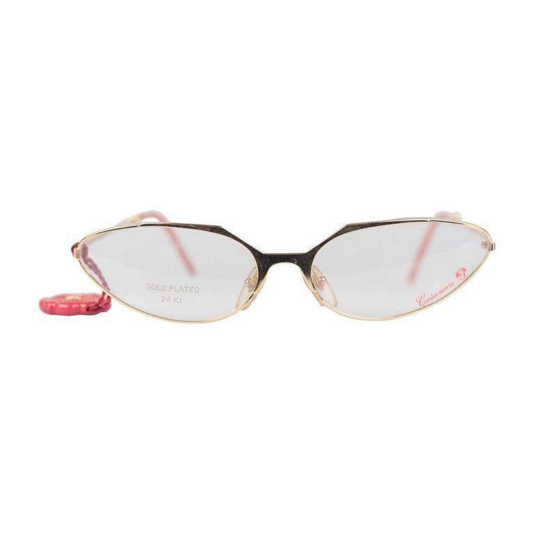 Casanova Vintage 24K Gold Plated Eyeglasses mod. LC 10 C 13 58-18 NOS