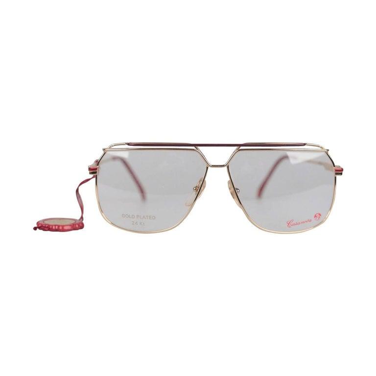 Casanova Vintage 24K Gold Plated Eyeglasses mod. CN 5 C 02 58-20 NOS