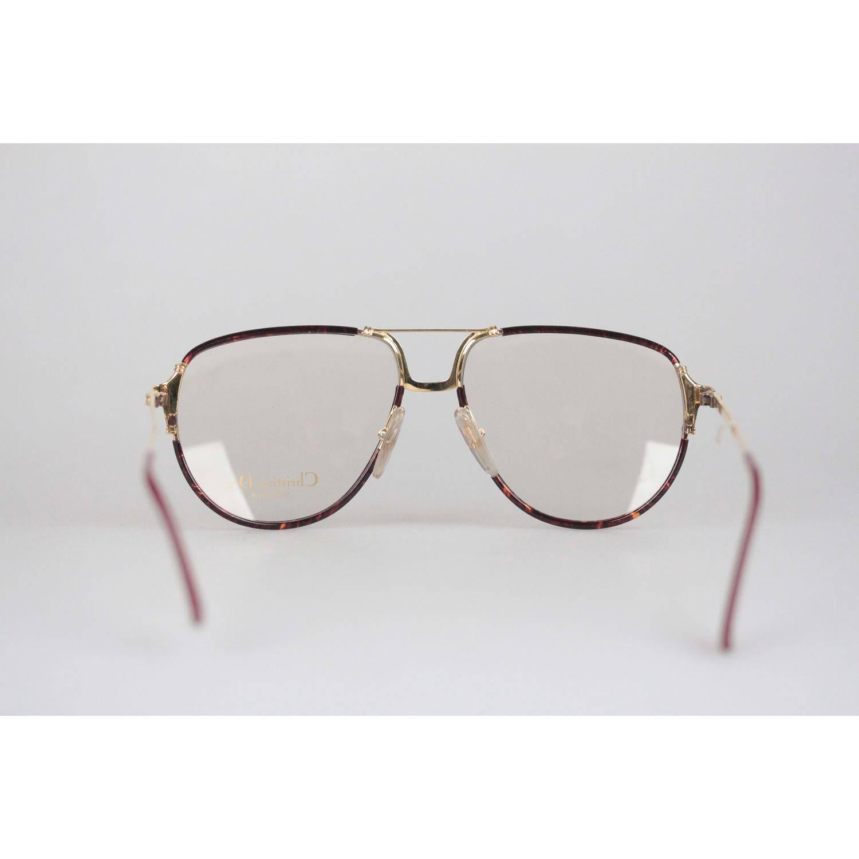 CHRISTIAN DIOR VINTAGE Rectangular wide framed sunglasses bOiq7VVO69