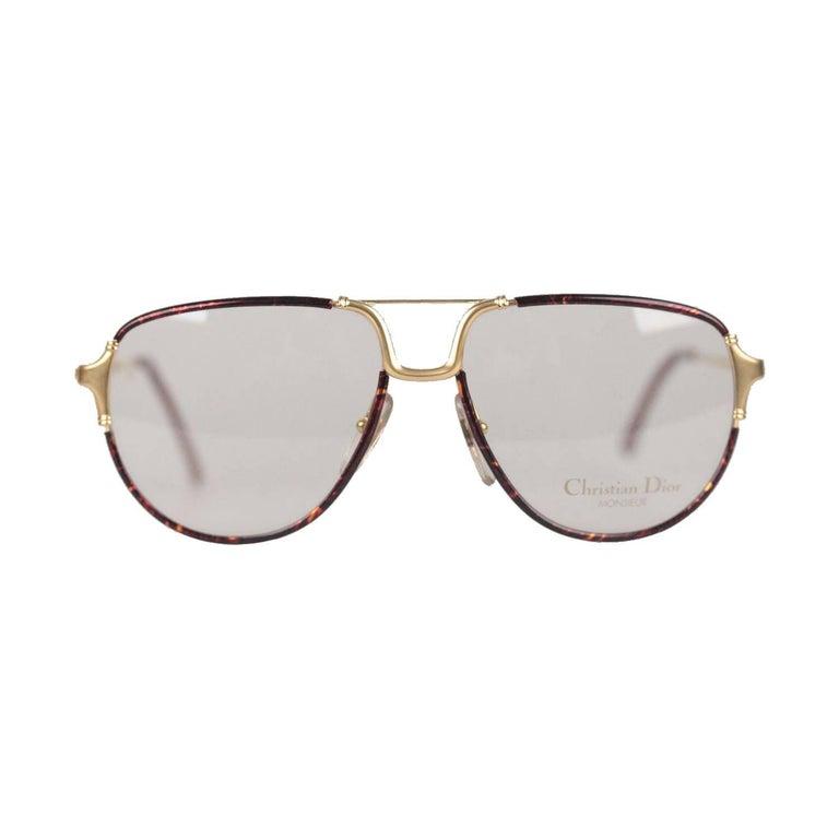 Christian Dior Monsieur Vintage Gold Brown Frame Eyeglasses - What is an invoice number eyeglasses online store