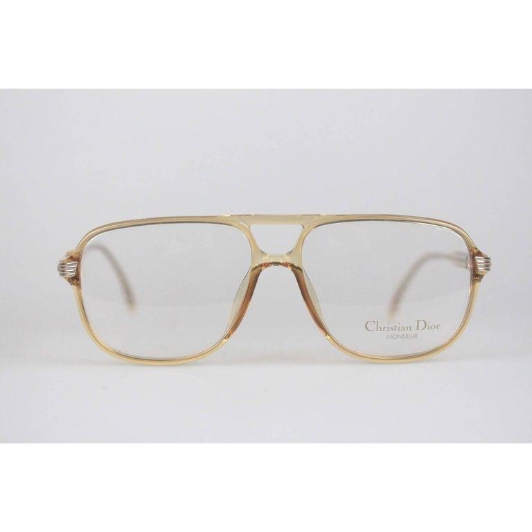 Christian Dior Monsieur Vintage Honey Frame Eyeglasses 2453 60mm 140 NOS For Sale 4